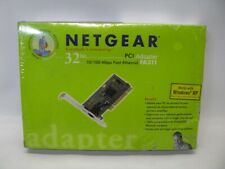 Netgear FA311 32 Bit PCI Adapter 10/100 mbps Fast Ethernet Card *New Sealed*