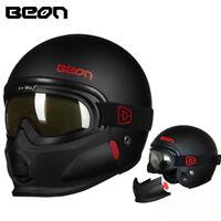 BEON T703 Motorcycle Full Helmet Goggles Combination Motorbike Open Face Helmets