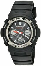 Casio G-Shock AWGM100-1ACR Men's Tough Solar Atomic Black Resin Sport Watch
