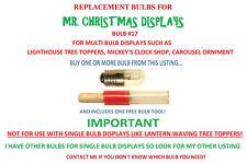 MR XMAS LIGHT BULB KIT LIGHTHOUSE, CAROUSEL ORNAMENT & MICKEY'S CLOCK SHOP #17