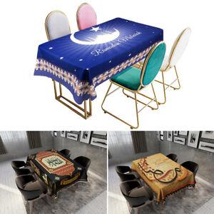 Eid Mubarak Ramadan Dining Table Cloth Islam Muslim Table Cover Home Party Decor