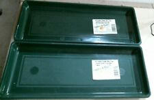 """Countryside Planters 18"""" Green Flower Box Tray Lot Of 2 Free Shipping"""