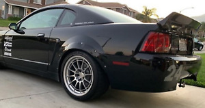 """Ford Mustang 4th Fender Flares Cobra JDMWide Body Wheel Arches ABS 2.0"""" 2pcs"""