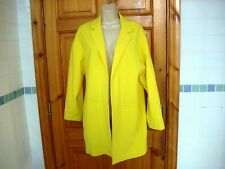 Ladies neon yellow duster jacket coat canary yellow bloggers size 12 Atmosphere