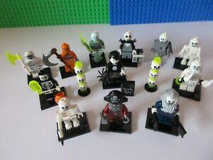 LEGO HALLOWEEN MINIFIGURE BUNDLE Includes Skeletons Spectre Pirate Fancy Dress