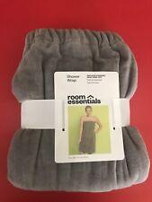 Room Essentials - Terry Cloth Shower Wrap Gray