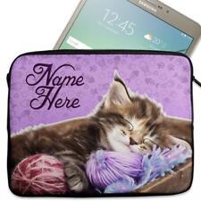 """Personalised Tablet Case KITTEN CAT Neoprene Sleeve Cover 7"""" 8"""" 9"""" 10"""" ST370"""