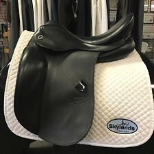 "Used Stubben 1894 Dressage Saddle - Size 17.5"" - Black"