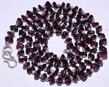 "(eVB1049) Garnet Natural Gemstone  Beads 18"" Necklace"