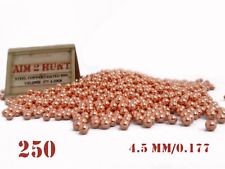 250 x 4.5mm / 0.177 PREMIUM GRADE PELLETS METAL BALL BB  STEEL AIRGUN PISTOL BBS