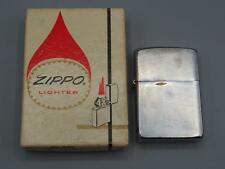 Vintage Zippo Brass Cigarette Lighter 1959 2517191 w/ Box