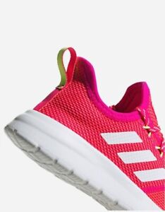 Adidas Lite Racer RBN Youth kids shoes size 5Y (women size 6.5) pink/neon EG3042