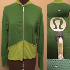 Lululemon 10 Olive Green Full Zip Shape Forme Run Luon Jacket  Women Athletic