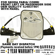 WINDOW REGULATOR- FOR SKODA FABIA/ COMBI 2006-2014 FRONT LEFT SIDE WITHOUT MOTOR