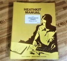 Heathkit Manual for ET-1000 Circuit Design Trainer w/ Illustration Booklet OEM
