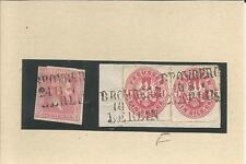 Preußen / BROMBERG / I / BERLIN 3 L3-BP-Stempel auf Pr. 10a + Briefstück m. Paar