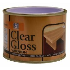 CLEAR GLOSS VARNISH - 180ml Wood Indoor Outdoor Paint Finish Interior Exterior