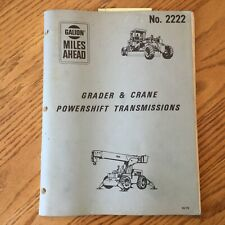 Galion GRADER & CRANE PS TRANSMISSION TROUBLESHOOTING SERVICE MANUAL GUIDE 2222