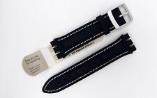 HIRSCH LIONEL 64209080-2-23 dark blue genuine textile strap for SWATCH (10)