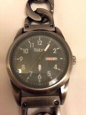 Rebel Men's Watch Reb1002 with Half Bracelet Half Leather Strap