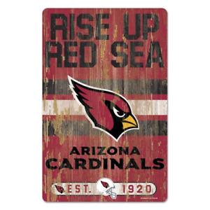 Arizona Cardinals 11x17 Wood Sign Slogan Design NFL Wall Banner WinCraft