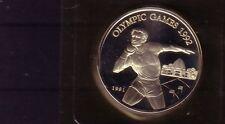 Samoa 10 DOLLAR Silber Kugelstoßen Barcelona 1992 (intern:olymunze:20 )