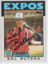 Autographed 1986 Topps Sal Butera - Expos