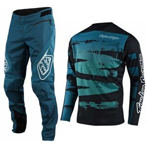 Troy Lee Designs Sprint Gear Combo Set Youth Kids Pants Jersey Bmx Mtb Dh Marine
