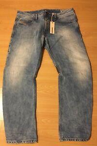 Diesel Men's ROMBEE 0880I Regular Slim-Carrot Blue Jeans W 33 W 30 BNWT Rrp £160