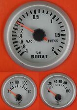 S4 Universal Oil Pressure + Water Temp + Boost gauge (Bar) 180SX 240SX 200SX