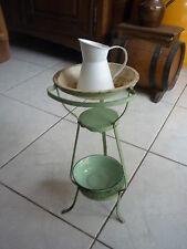 TABLE DE TOILETTE  EN TOLE JOUET DE POUPEE (ancien)