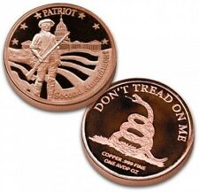 Copper Round 2nd Amendment Commemorative Medallion, 10 rounds