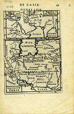 1683 Genuine Antique map Persian Empire, Ancient Persia Perse Parthes. Am Mallet