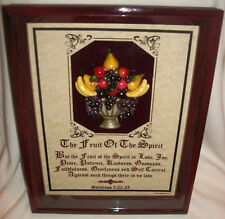 """New! Bible Verse Plaques/Signs~ """"The Fruit Of The Spirit"""" ~Christian Gifts $100."""