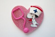 NURSE SNOOPY RN NURSE MEDICAL EMT VETERINARIAN ASSISTANT LPN STAFF REEL BADGE