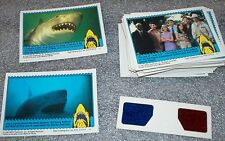 JAWS 3D card set with 3-d glasses   44 cards