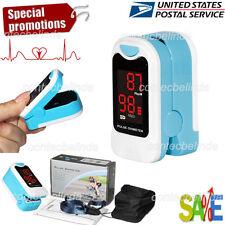 Finger Pulse Oximeter Blood Oxygen Sensor O2 SpO2 Monitor Heart Rate LED USA FDA