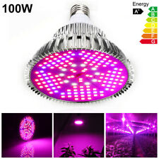 100W LED Grow Light Bulb E27 Full Spectrum Hydroponic Indoor Plant Growing Lamp