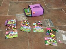Lot Of 4 Lego Friends Dog Show Sets 100% Complete W Instructions & Zipbin Case
