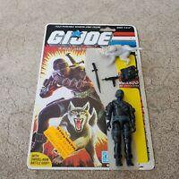Vintage GI Joe Figure 1985 Snake Eyes complete with full file card