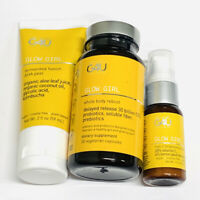 Naturally G4U Glow Girl Bundle Overnight Supplement + Serum + Mask Sealed NEW