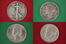 MAKE OFFER $100.00 Face Mercury Roosevelt Walking Washington Junk Silver Coins