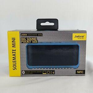 New Jabra Solemate Mini Portable Bluetooth Wireless Speaker Blue Small NFC