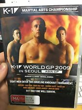 K1 K-1 Martial Arts World GP 2009 in Seoul NEW/SEALD region4 DVD (MMA UFC) rare