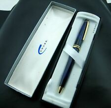 Vintage A.T. Cross fat Oceania Blue Ballpoint Pen Writing Instrument  orig Box