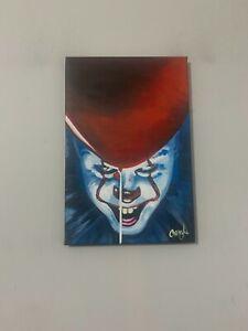 IT Clown Horror Movie 12x18 Pop Art Painting Chris Cargill