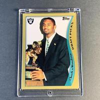 CHARLES WOODSON 1998 TOPPS #356 DRAFT PICKS ROOKIE RC RAIDERS NFL FUTURE HOF