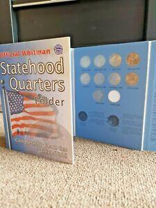 Official Whitman Statehood Quarters Folder Complete 49 State Set 1999-2008