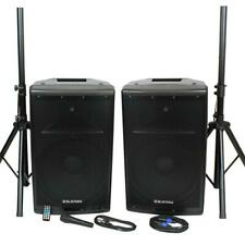 15 inch 1000 Watts Active and Passive Speaker Box System w/ Mic and Stand