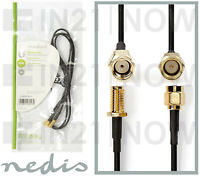 Nedis SMA Male to SMA Female Coaxial Cable Extension DVBT Antenna GPS WiFi 1m